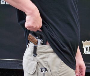 CC in waistband holster